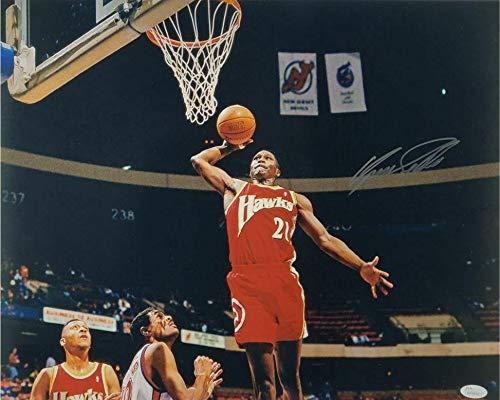 Dominique Wilkins Autographed Photo - Slam Dunk 16x20 Witness COA #WP906027 - JSA Certified - Autographed NBA Photos