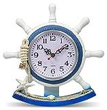 Boating Clocks - Sailboat Steering Wheel Helm Decoration - Nautical Decor - Beach Decorations - 8.5 Inch