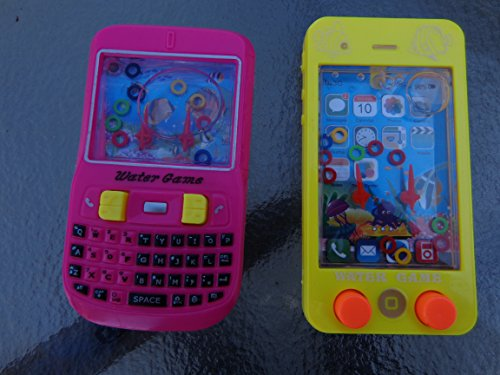 Hand held Water game set Cell Phone Black Berry & Iphone water Ring game set of (2) best game no Batteries required