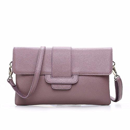 2018 nueva moda damas solo hombro inclinado Cruz bolsa de mano marea,Pink Violeta