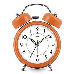 Silent electronic alarm clock/double bell light night clock/simple and creative alarm clock-Orange