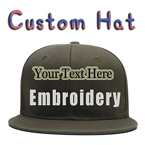 Custom Embroidered Hat,Personalized Hat,Trucker Cap,Adjustable Dad Cap Add Text(Black)