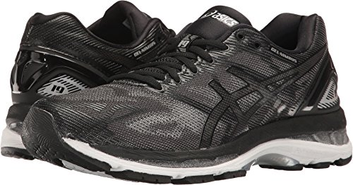 ASICS Women's Gel-Nimbus 19 Running Shoe, Black/Onyx/Silver, 6.5 M US