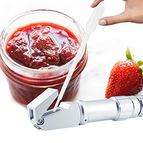 GX PRO 0 A 80% Brix refractómetro Jarabe Jam CNC de las personas que trabajan con recolección, elaboración de alimentos de la concentración de azúcar en ...