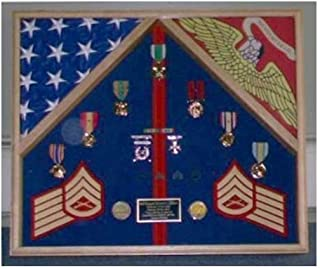 product image for Marine Corps 2 Flag Shadow Box Display Case, 4' x 6'