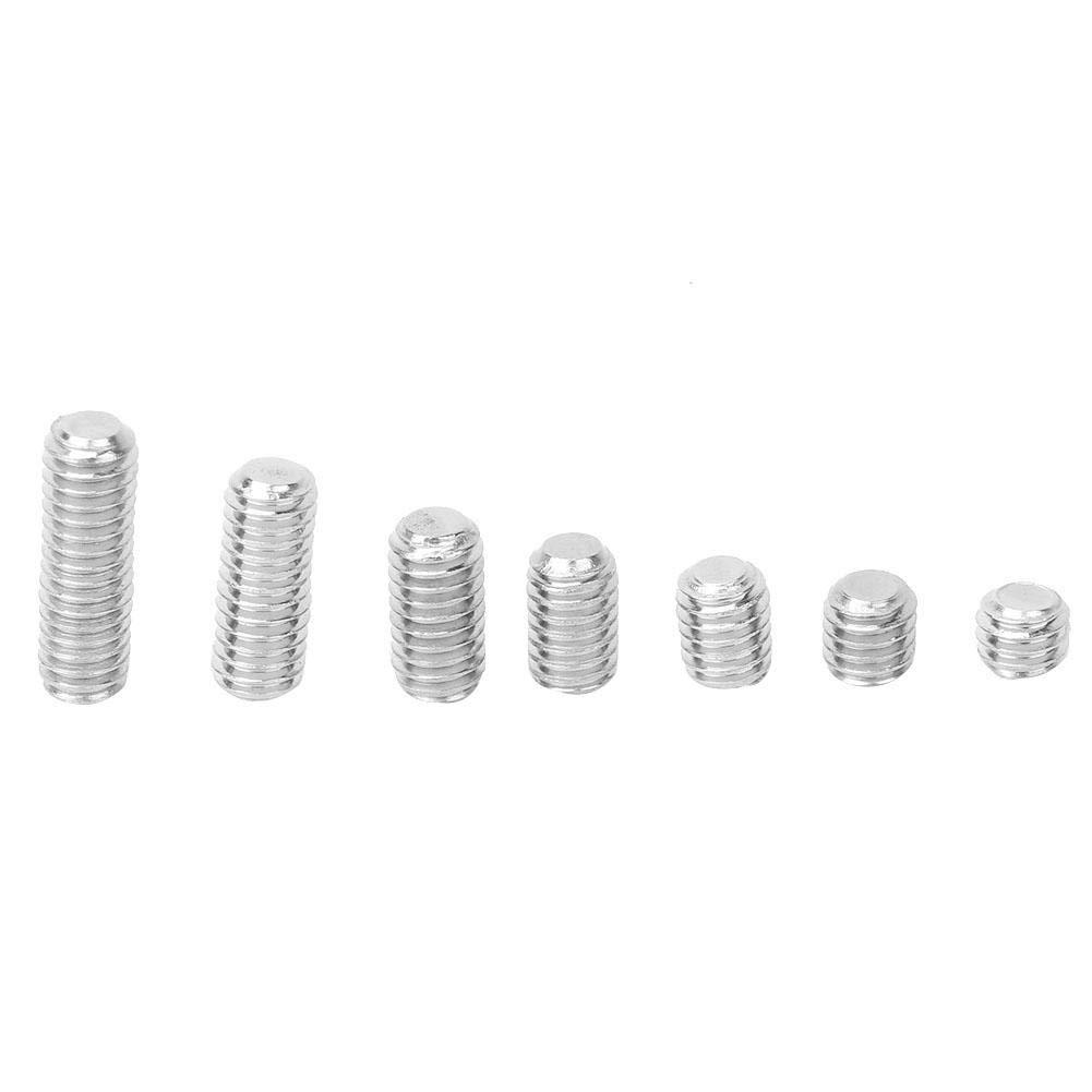212Pcs 304 Stainless Steel M4 Hex Socket Flat Point Set Screw Grub Screw Kit with Hex Key