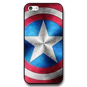 XiFu*MeiUniqueBox - Customized Personalized Black Hard Plasticiphone 6 plua 5.5 inch Case, Captain America Shield iphone 6 plua 5.5 inch case, Only Fit iphone 6 plua 5.5 inch CaseXiFu*Mei