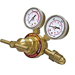 Ameriflame R260-510 Medium Duty Single Stage Acetylene Regulator with CGA510 Inlet