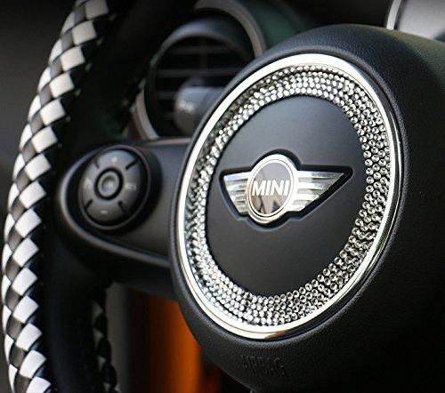 Mini cooper S F56 F55 countryman clubman steering wheel Rhinestones crystal decoration interior accessories