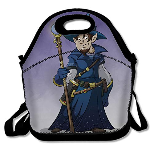 Eco-Friendly Lunch Bag (The Original), Insulated -Magician Wizard Art Staff Hat]()