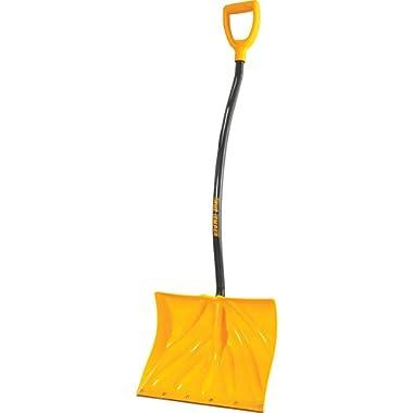 True Temper Ergonomic Mountain Mover Snow Shovel Blade Shape is Great for Shoveling Or Pushing 18 in