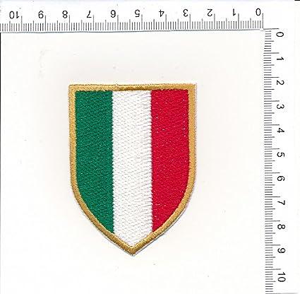 514942ad1a PATCH TOPPA RICAMATA TERMOADESIVA SCUDETTO ITALIA TRICOLORE JUVENTUS -INTER-MILAN