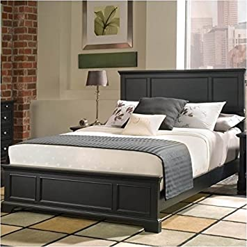 Amazon.com: Home Styles 5531-500 Bedford Queen Bed, Black Ebony ...