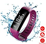 Fitness Tracker, Heart Rate Monitor, IP67 Waterproof Smart Bracelet with Camera Remote Shoot