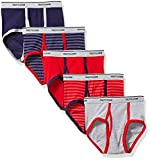 Fruit Of The Loom Boys' Fashion Brief (Pack Of 5) (Stripes and Solids, Medium/10-12)
