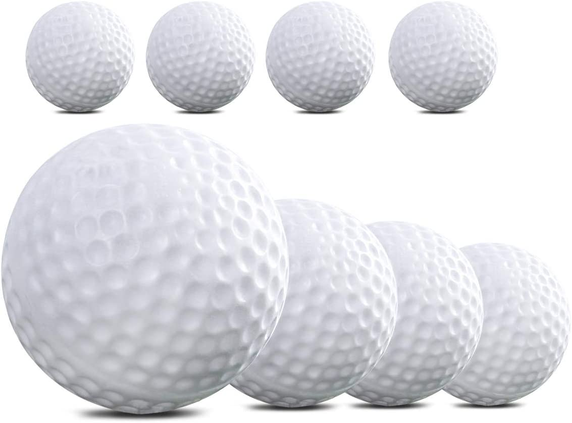 TOYMYTOY 8pcs Plastic Golf Balls Game Toy Balls Indoor Outdoor Practice Balls for Kids Children Golfer (White)