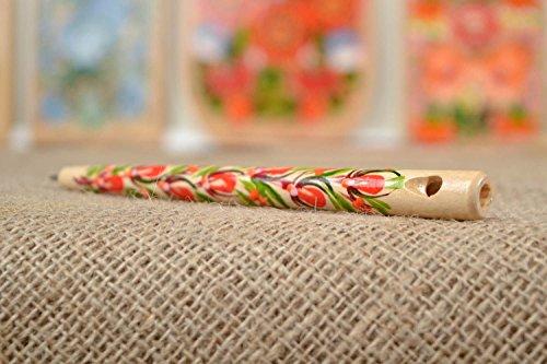 Handmade Pen Wooden Whistle Unusual Souvenir Handmade Stationery Ethnic Pen ()