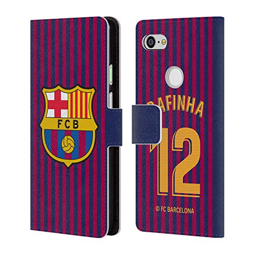(Official FC Barcelona Rafael Alcántara 2018/19 Players Home Kit Group 2 Leather Book Wallet Case Cover for Google Pixel 3 XL)
