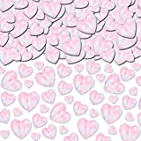 Amscan Lovely Metalic Confetti Hearts Decoration Party Supplies (12 Piece), Iridescent, 6