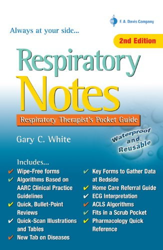 Respiratory Notes Respiratory Therapist's Pocket Guide (Davis's Notes)