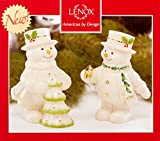 Lenox Happy Holly Days Decorate The Tree Snowman Salt & Pepper Shakers