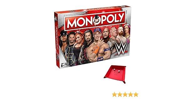 Juego de Mesa WWE Monopoly. Incluye una única Bandeja Plegable para Jugar con el Juego: Amazon.es: Juguetes y juegos