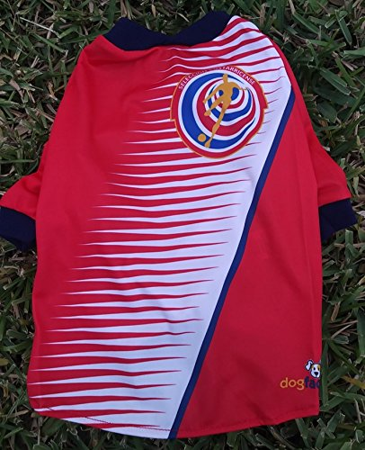 Amazon.com : Costa Rica DOG T-Shirt Worldcup Shirt camisetas para perros selecciones futbol soccer (M) : Pet Supplies