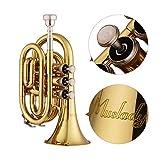 Muslady Mini Trumpet Pocket Bb Flat with Mouthpiece
