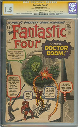 FANTASTIC FOUR #5 CGC 1.5 CR/OW PAGES // ORIGIN/1ST APPEARANCE OF DOCTOR DOOM