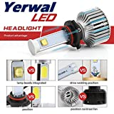 Yerwal H1 LED Headlight Bulbs All-in-one CREE Conversion Kit - 80W-7,200Lm-6000K Cool White Bright Bulbs Set