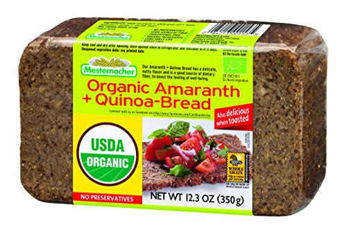 Amaranth Cereal - Mestemacher Bread, Organic Amaranth & Quinoa, 12.3 Ounce, 9 Count