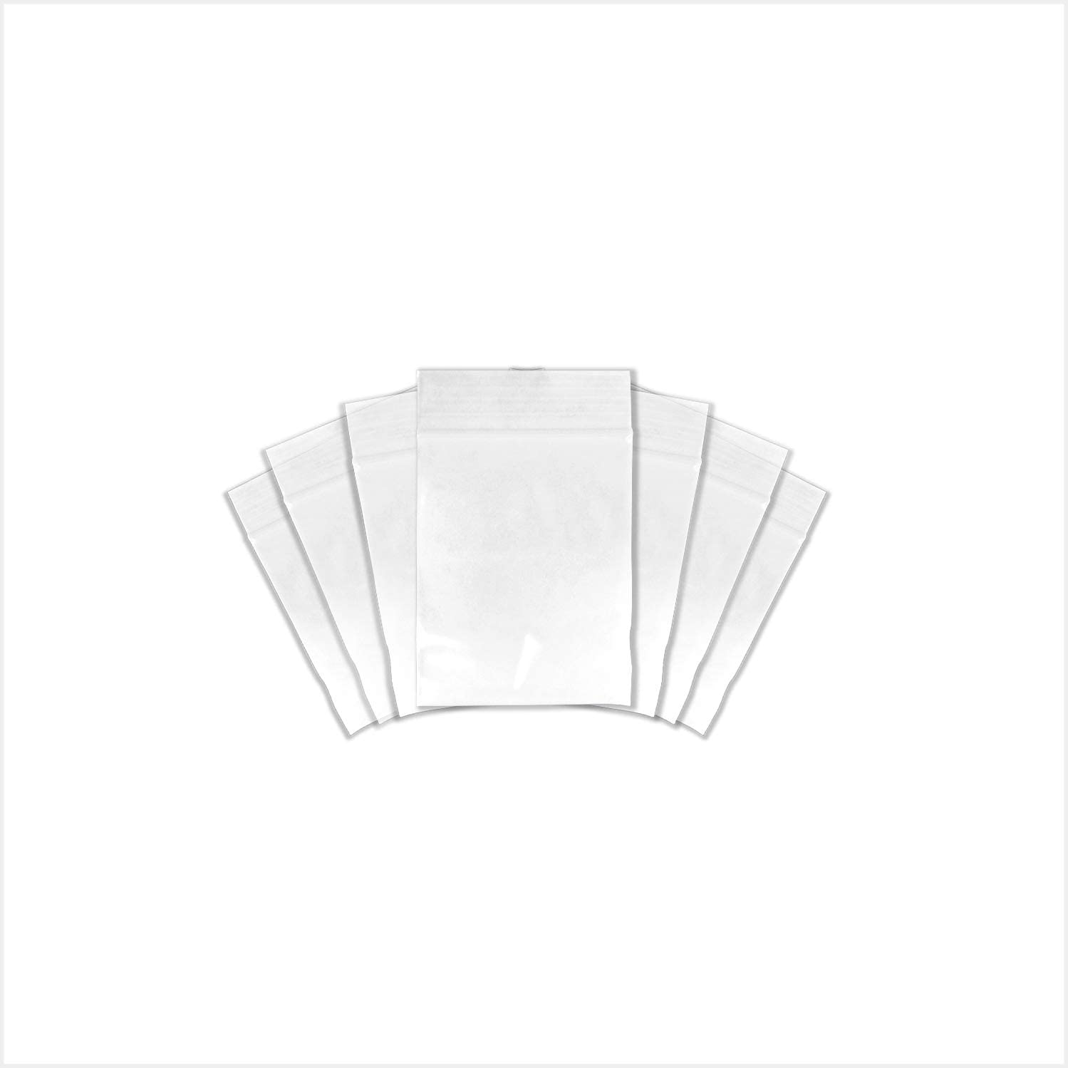 "SNL Quality Zip Lock Reclosable Clear Disposable Plastic Bags, Heavy Duty | 2.5"" X 3"" - 4 MIL - 200 Bags"