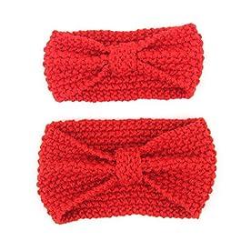 2 diademas rojas para bebé