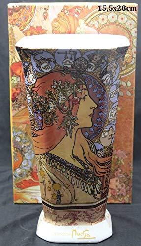 Atelier Harmony Mucha Zodiac Glass Vase Porcelain 28x155 Cm With