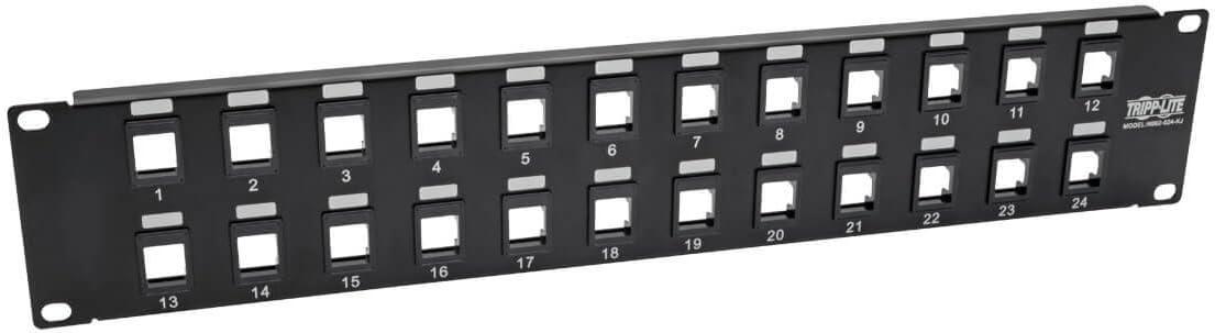 Tripp Lite 24-Port Keystone Blank Patch Panel RJ45 USB HDMI Cat5//6 2URM