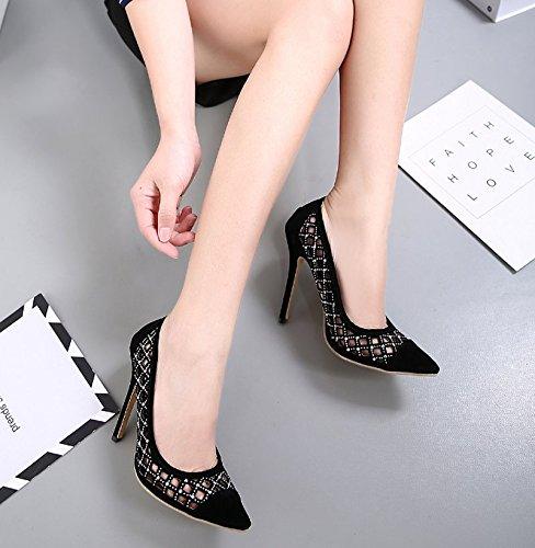Évidé 8 KHSKX Noir Haut Chaussures Sandales L'Été Baotou Sandales Chaussures 5Cm Forages Fines six Sharp Femmes Eaux Femmes Les En Thirty wa5qrxwFt