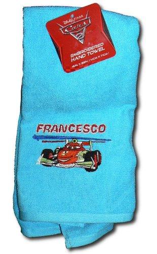 Jay Franco e hijos Disney Cars 2 bordados toalla de mano