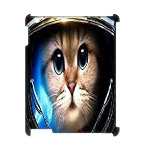Space cat flying Design Cheap Custom 3D Hard Case Cover for iPad 2,3,4, Space cat flying iPad 2,3,4 3D Case