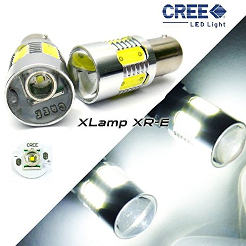 LEDIN 2x 1156 CREE XR-E Projector LED Rear Turn Signal Light Bulb 7506 BA15s P21W (Gl Turn Light Signal)
