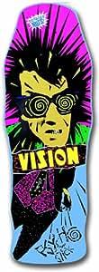 Vision Original Psycho Stick Reissue Skateboard Deck, Blue, 10 x 30-Inch