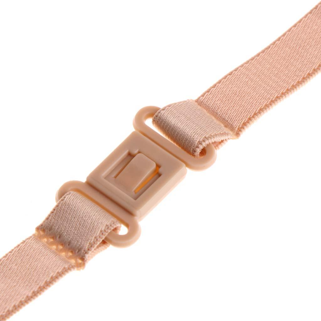 SimpleLife Women Reggiseno Antiscivolo Regolabile Cinturino Elastico Regolabile con Clip Posteriore-Confezione da 3