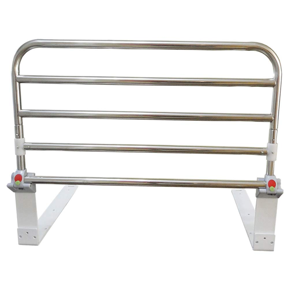 Ibnotuiy Foldable Stainless Steel Elderly Bedside Safety Rail Adjustable Bed Rail Guard Safety Side for Home Hospital (23.62 inch)