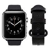 Top4cus - Correa de repuesto para Apple Watch Series 3 Series 2 Series 1 Sport y Edition (hebilla redonda, 38 mm), color negro