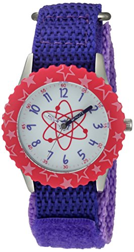 eWatchFactory Girl's 'Discovery Channel' Quartz Stainless Steel and Nylon Sport Watch, Color:Purple (Model: WDC000002) by eWatchFactory