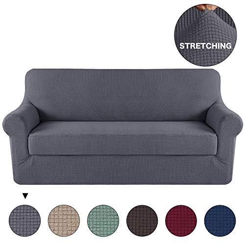 Turquoize Grey Sofa Slipcover Stretch High Spandex Sofa Cove
