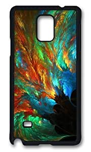 MOKSHOP Adorable abstract sea of colors Peacock Feather Hard Case Protective Shell Cell Phone Cover For Samsung Galaxy Note 4 - PCB