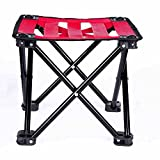 WANGXIAOLIN Folding Stool Beach Lounge Chair Suitable For Camping, Fishing, Traveling, Hiking, Garden, Beach (Color : Red)