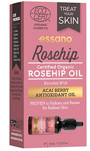 Essano Organic Rosehip Oil with Antioxidant Acai Berry, 20ml (0.6 oz)