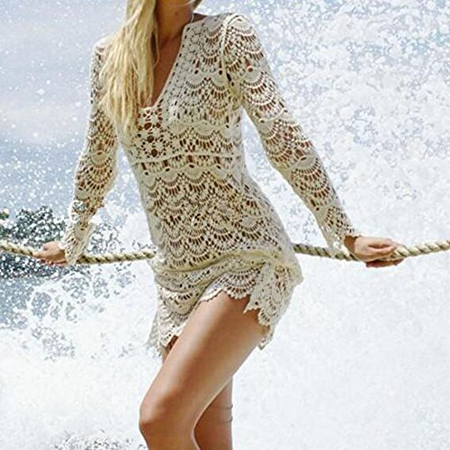 hibote Mujer Traje de Baño Pareo Playa Vestido Ropa de baño Bikini Cubierta Hasta Casual Ropa De Playa Color C