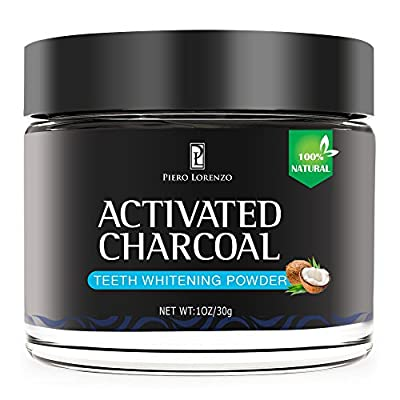 Natural Activated Coconut Charcoal Teeth Whitening Powder, Teeth Whitening Charcoal, Activated Charcoal Teeth Whitening Kit, Teeth Whitener, Tooth Powder For Healthy Cleaner Whiter Teeth (Black,)